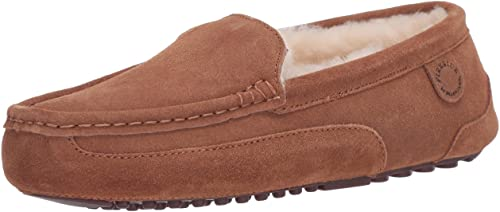 Fireside moccasin slipper for hardwood floor