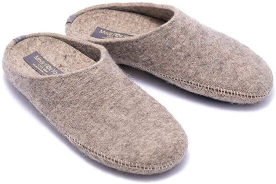 natural wool women slipper for hardwood floor