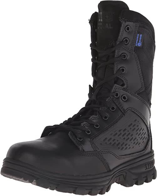 5.11 Tactical EVO Waterproof Boots, Side Zip Access, Full-Length EVA Midsole