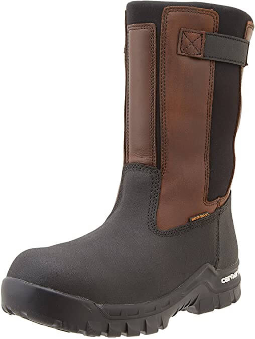 Carhartt Wellington Waterproof Leather Pull On Boot