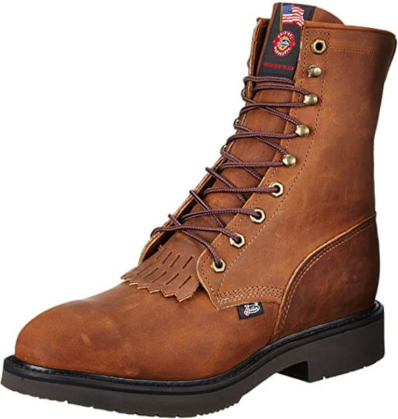 Justin Double Comfort Steel Toe Work Boots for Flat Feet
