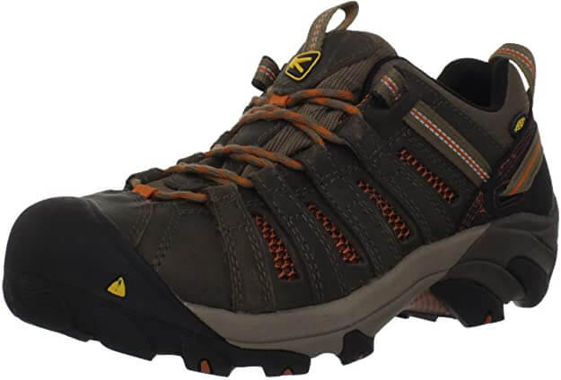 KEEN Utility Flint Steel Toe Work Boots for Flat Feet