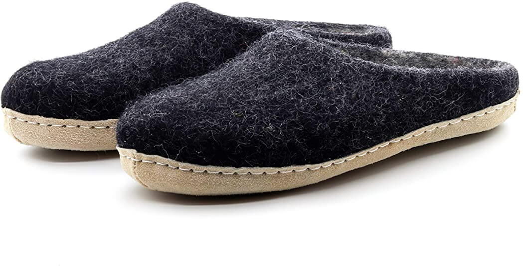 Nootkas Men Felted Merino Wool Astoria Slipper