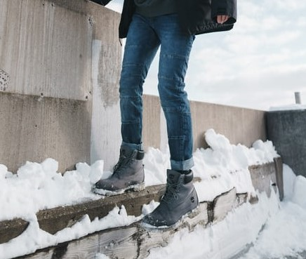 man standing in cold weather