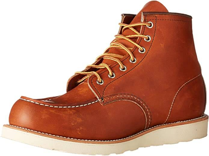 Red Wing Heritage Men Classic Moc work boots for hot weather