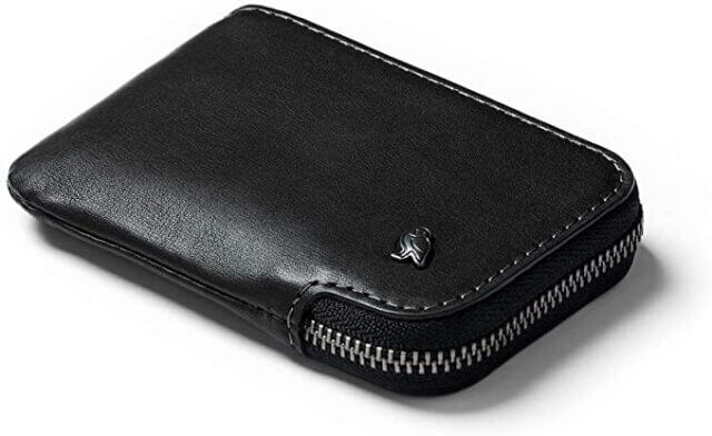 Bellroy Card Pocket Small Leather Zipper Card Holder Wallet