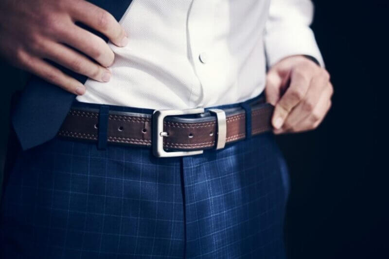 Best Non Iron Dress Pants in blue check color