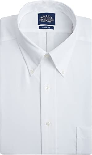 Eagle Men's Dress Shirt Slim Fit Non Iron Solid