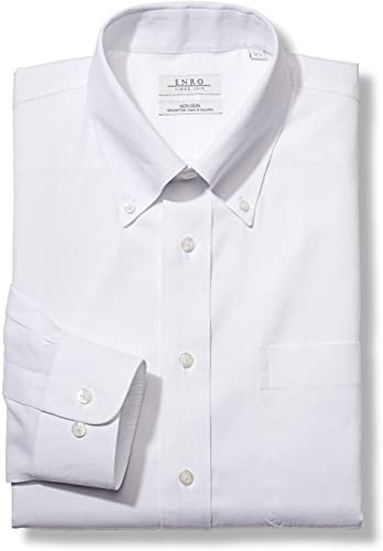 Enro Men's Classic Fit Solid Button Down Collar Dress Shirt