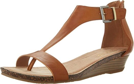 Kenneth Cole REACTION Women Gal T-Strap Wedge