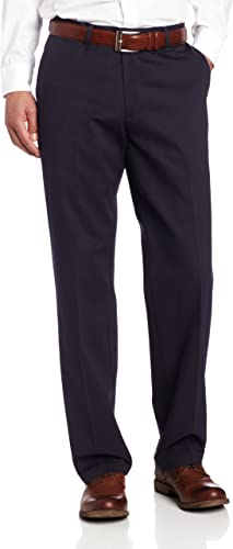 Lee Men Stain Resistant Relaxed-fit Flat Front Best Non Iron Dress Pants