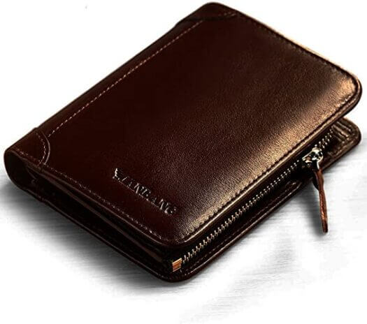 Men Italian Genuine Cowhide Leather Extra Capacity RFID Bifold Wallet