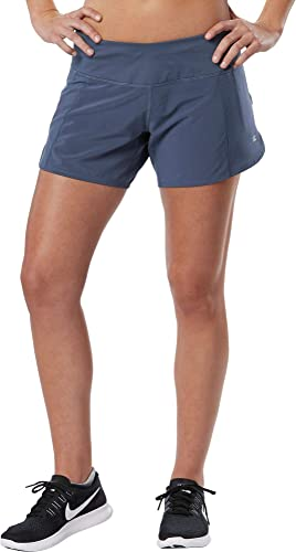 R-Gear Women Running Workout Shorts with Pockets and Brief Liner