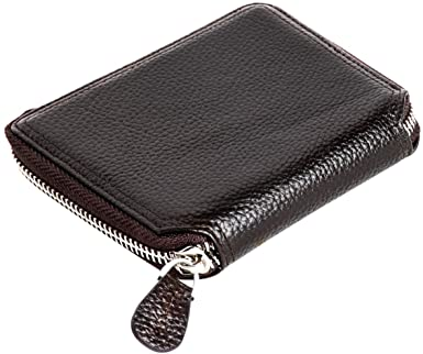 RFID Blocking Wallet for Men with Zip Around Opening Trifold
