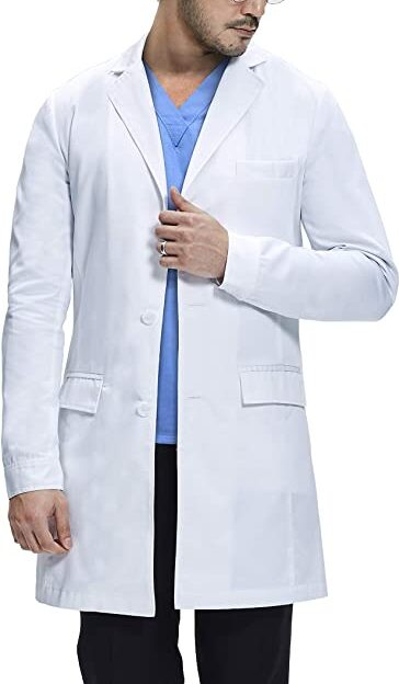 Dr. James Men Consultation Lab Coat, Slim Fit, Multiple Pockets
