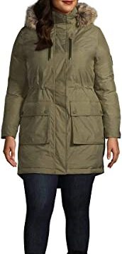 Lands End Women Expedition Waterproof Down Winter Parka with Faux Fur Hood