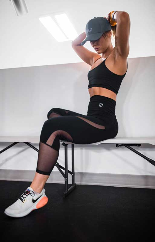 Leggings For Bigger Thighs wearing a women in gym