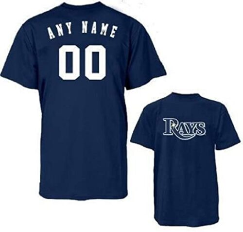 Majestic Athletic Custom Tampa Bay Rays Licensed Replica Jersey Tee