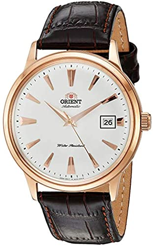 Orient 2nd Gen Bambino Japanese Automatic Stainless Steel and Leather Dress Watch
