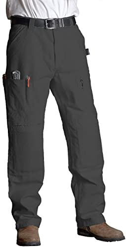 ViviTech - Cotton Canvas Utility Work Pants with Knee Pads