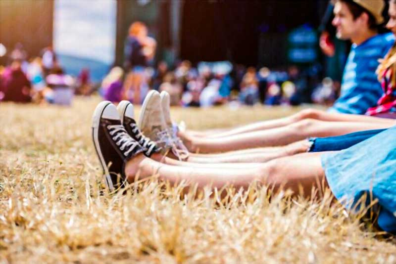 shoes for festivals along peoples