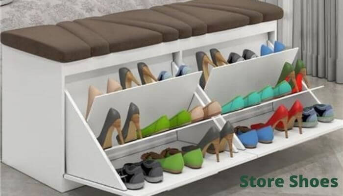 Store shoes in drawer